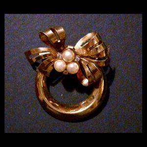 Coro Sterling Silver Brooch with a gold overlay